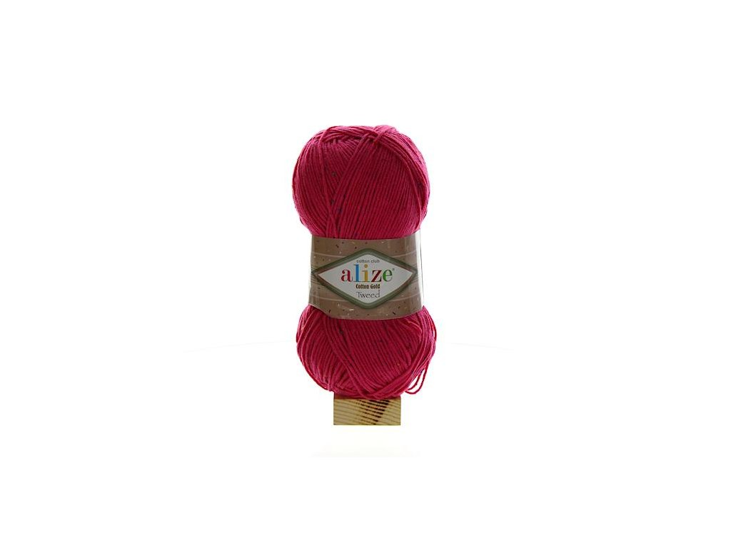 Cotton Gold Tweed fuchsiová 149