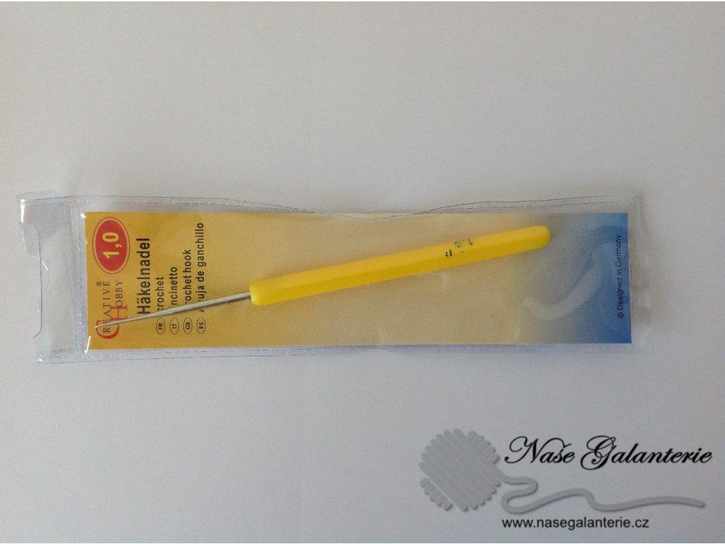 Háček pletací s plastovou ručkou 1 mm