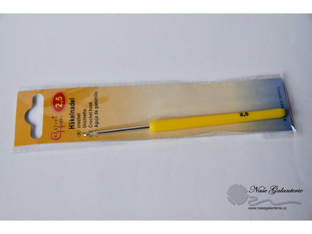 Háček pletací s plastovou ručkou 2,5mm