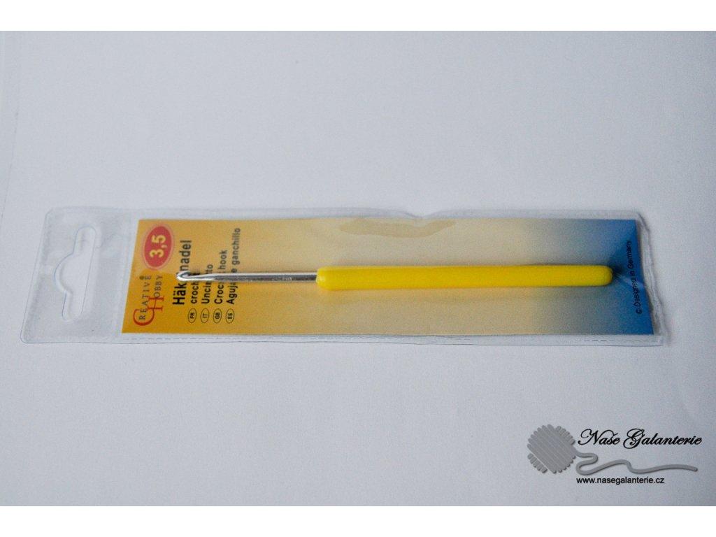 Háček pletací s plastovou ručkou 3,5 mm