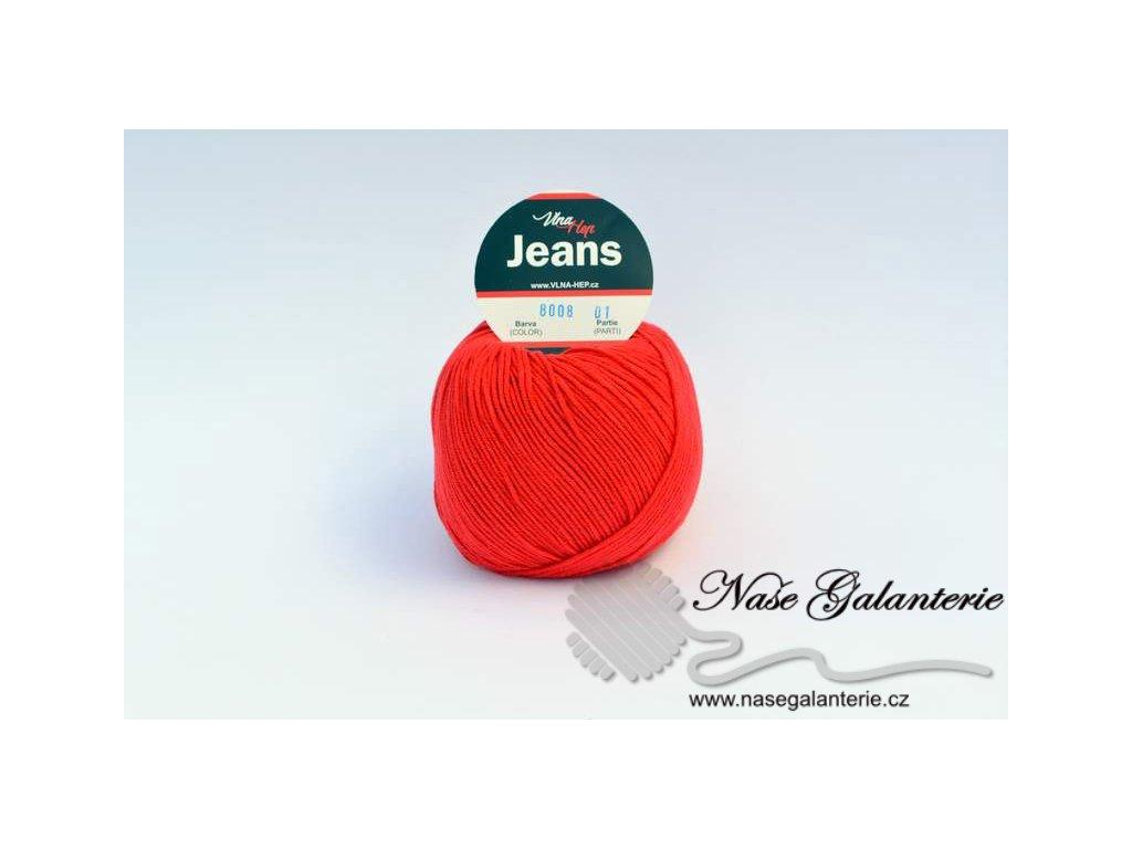 Jeans červená 8008