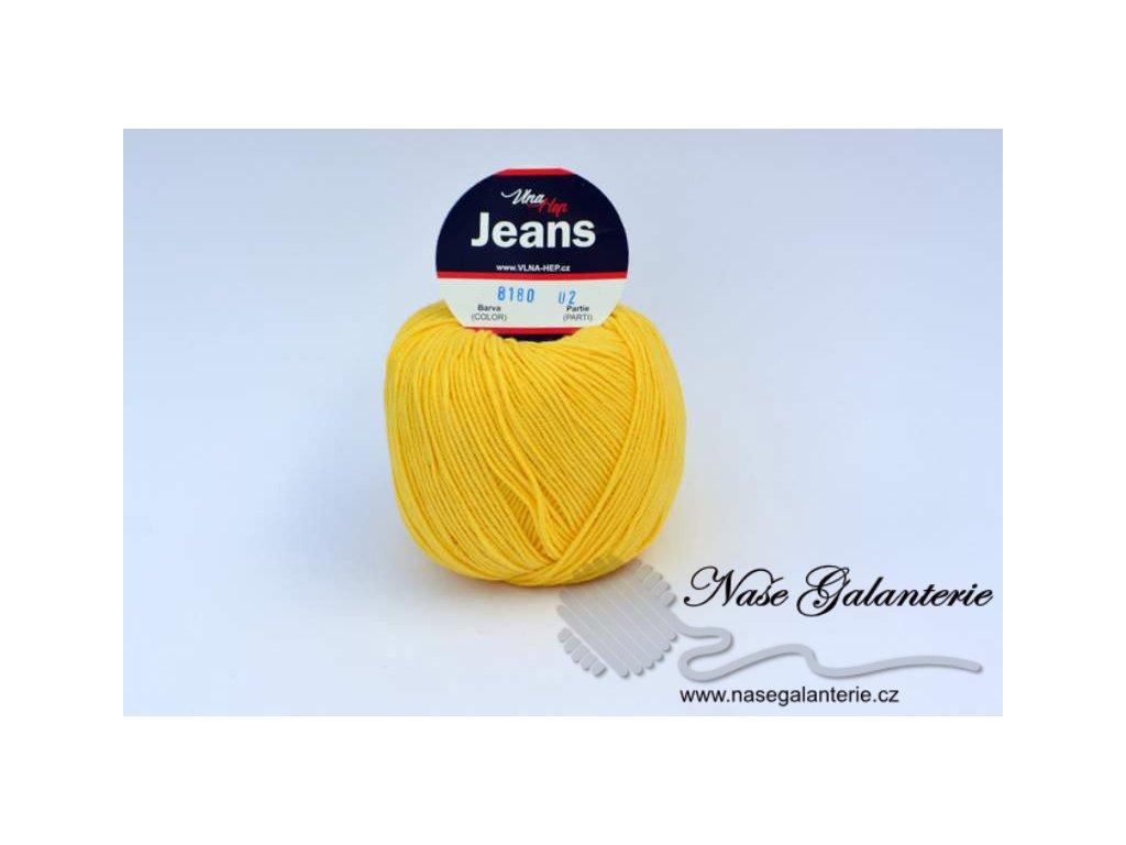 Jeans žlutá 8180