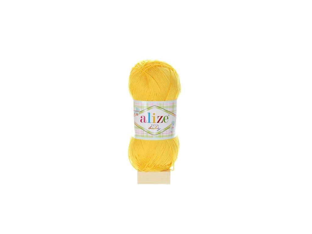 Alize Diva Baby tmavě žlutá 216