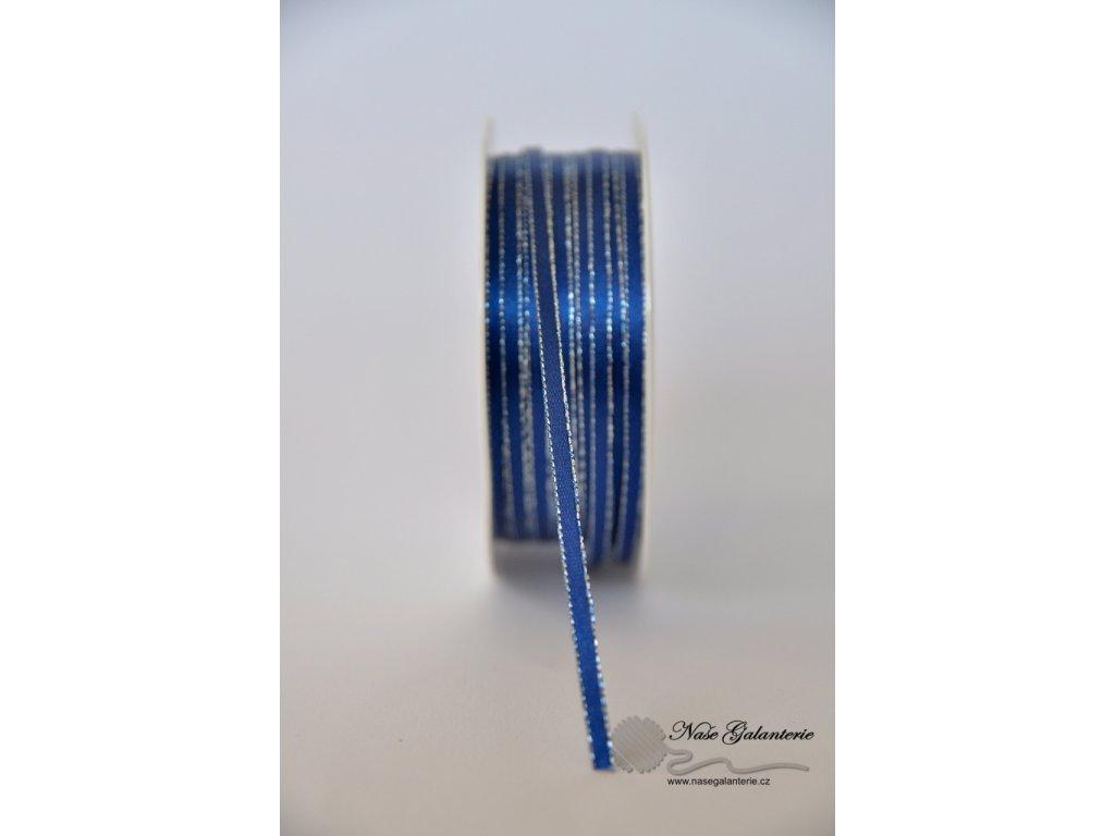 Modrá se stříbtným okrajem 3mm