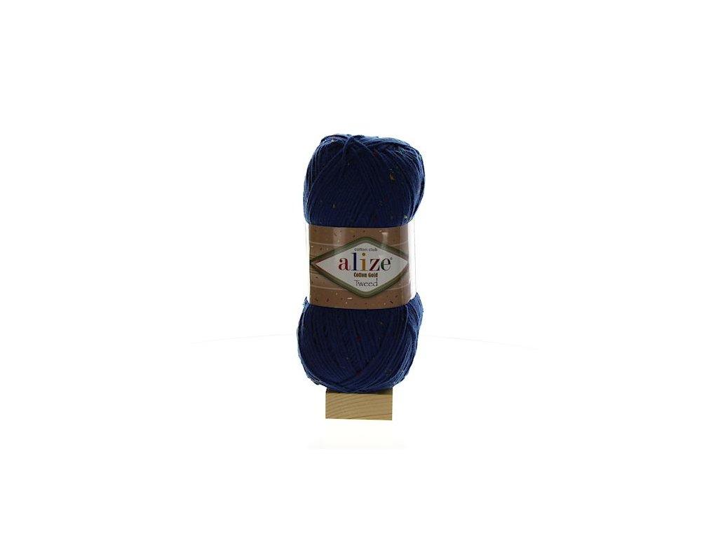 Cotton Gold Tweed tmavě modrá 279