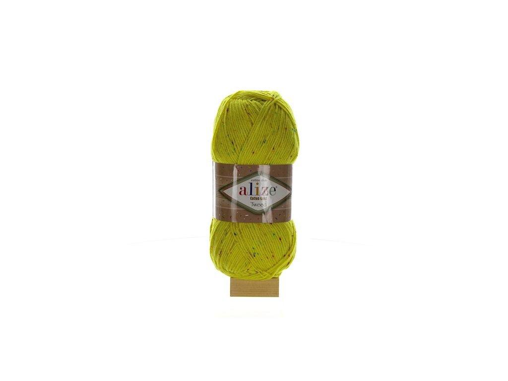 Cotton Gold Tweed žllutá 110
