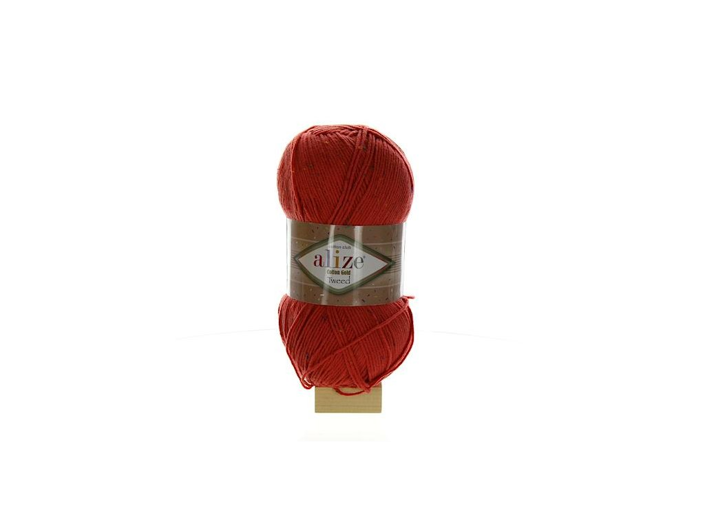 Cotton Gold Tweed korálová 38