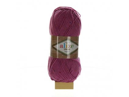 Cotton Gold tweed růžová 98