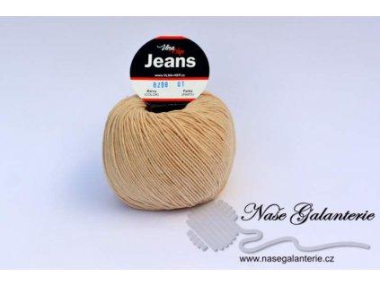 Jeans béžová 8208