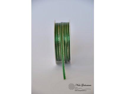Zelená se zlatým okrajem 3mm