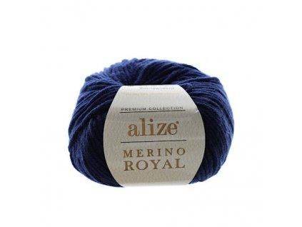 Merino Royal tmavě modrá 58