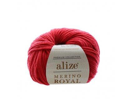 Merino Royal červená 56