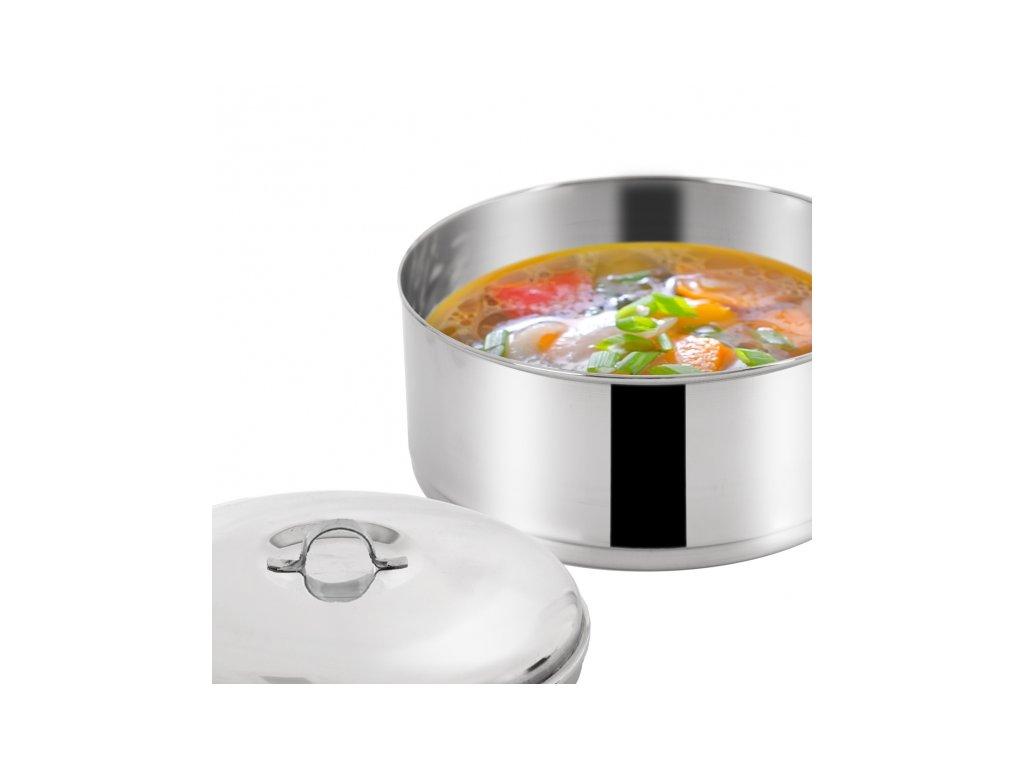 Nerezový jídlonosič 4 x 1 l