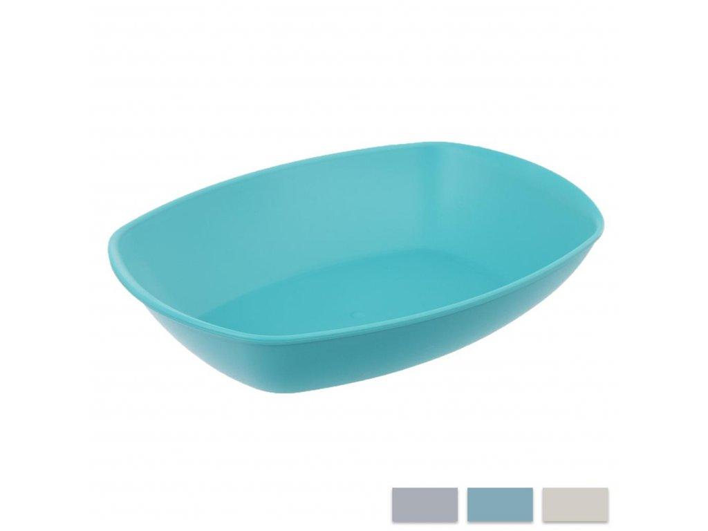 Plastový talíř Sandy oválný 15,5 x 25 cm