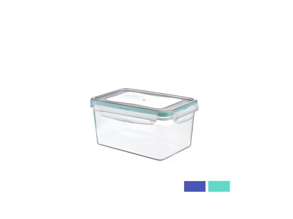 Plastová dóza s těsněním obdélník 0,7 l
