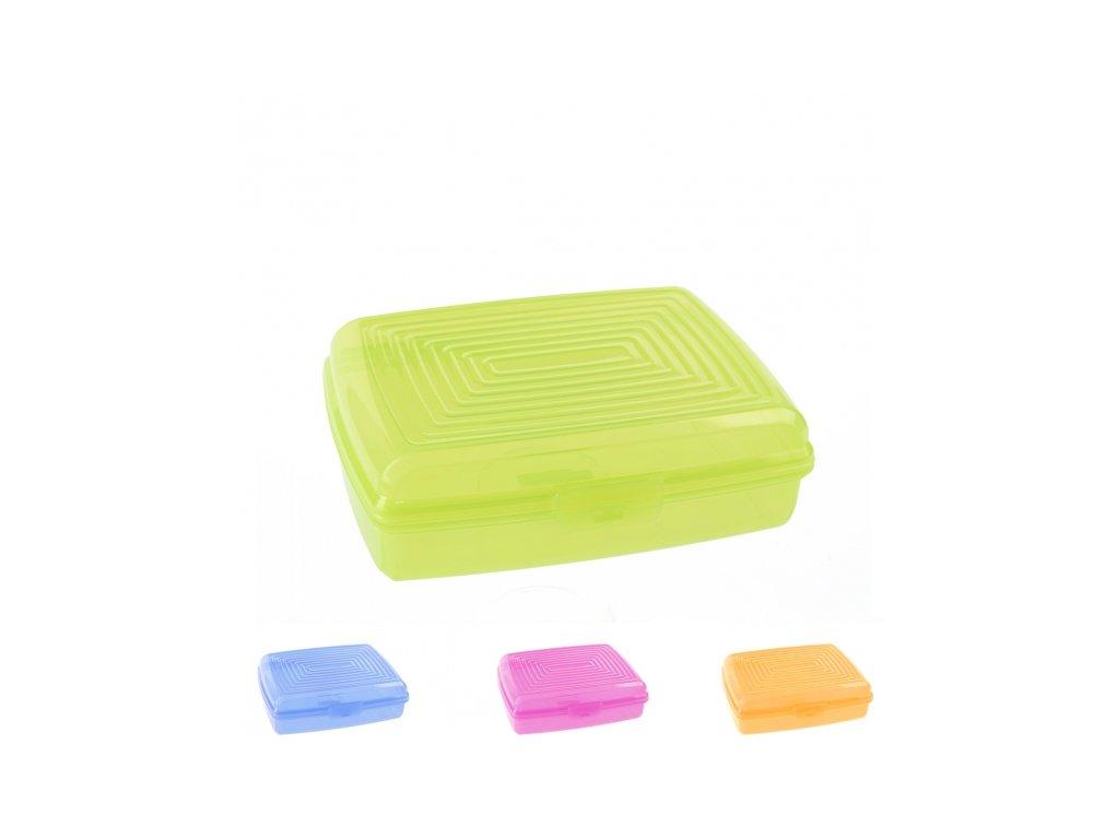Plastový box na svačinu 19,5 x 15,5 x 6,5 cm
