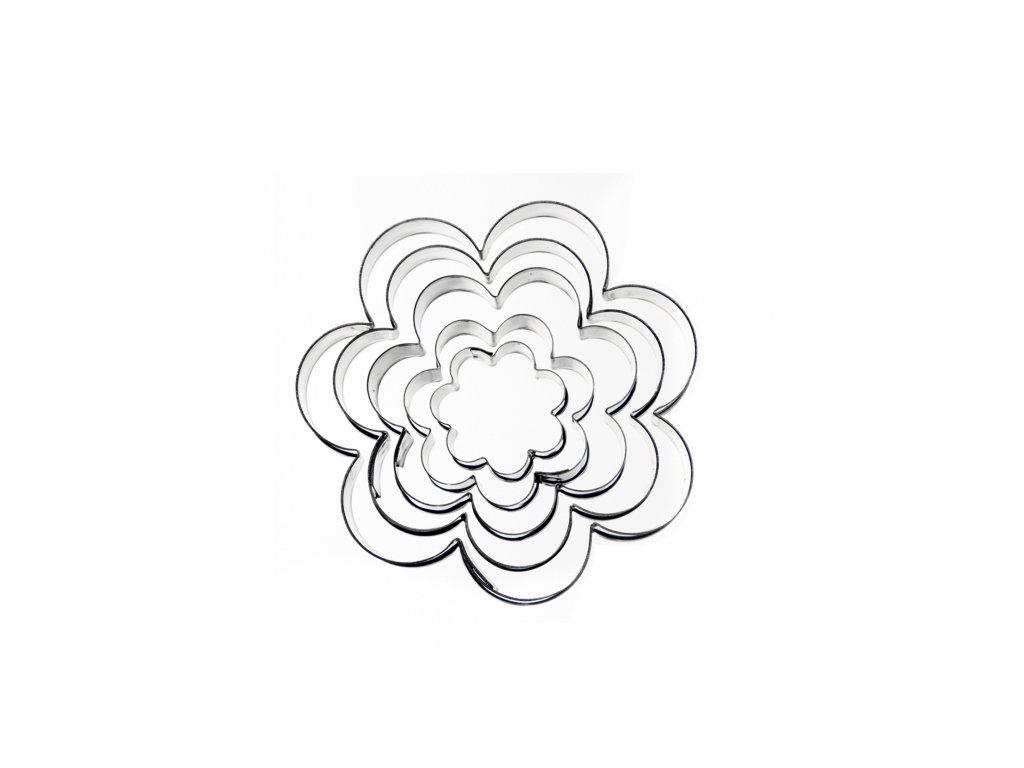 Nerezové vykrajovátko Květ sada 5 ks