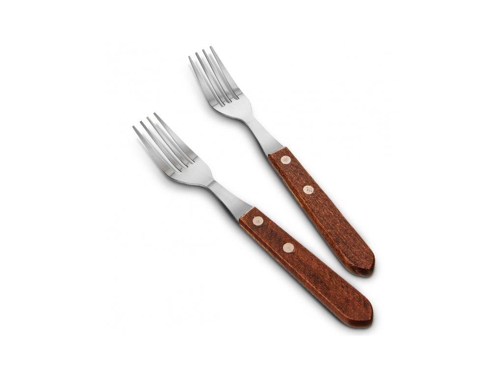 Vidlička steak. nerez/dřevo 6ks