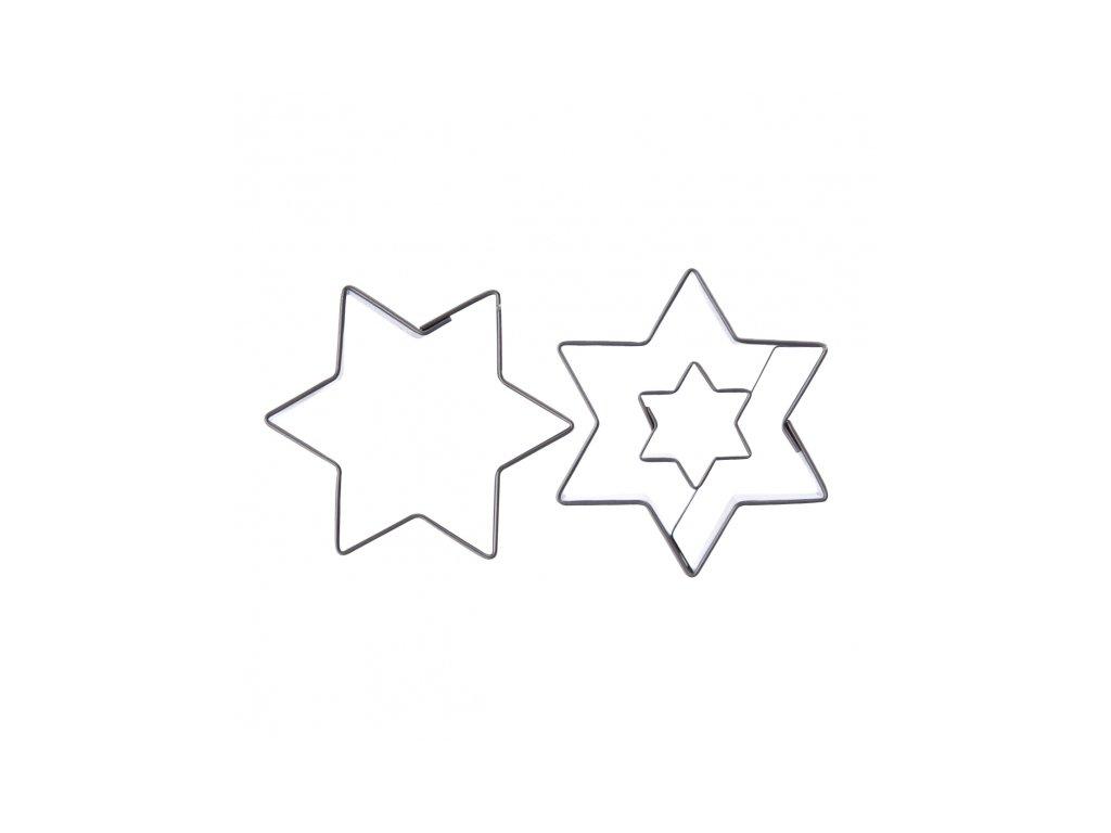 Nerezové vykrajovátko Hvězda sada 2 ks