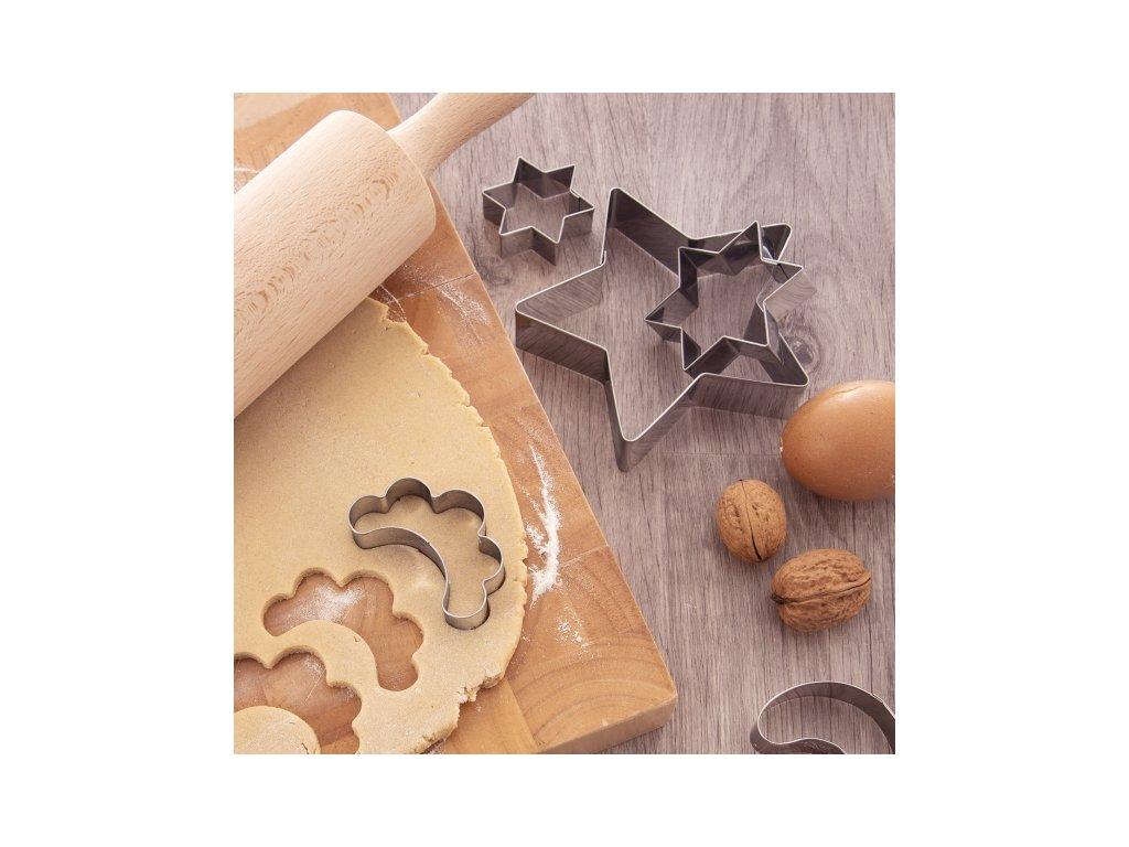 Nerezové vykrajovátko Hvězda 4 x 4,6 cm