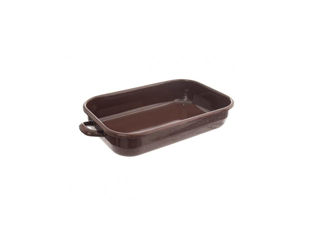 Smaltovaný pekáč Brown 27,5 x 18 cm