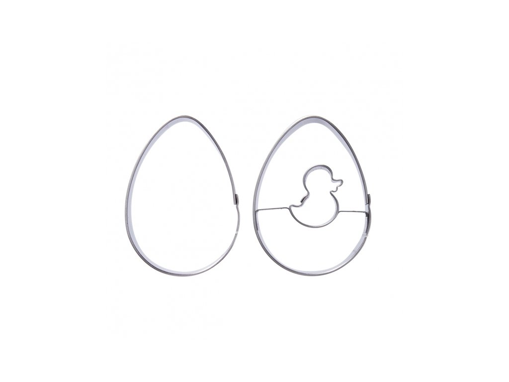 Nerezové vykrajovátko Vajíčko sada 2 ks