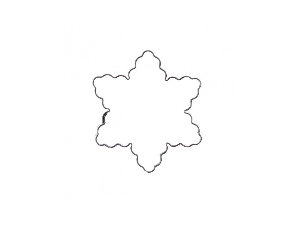 Nerezové vykrajovátko Hvězda vlnky 6 cm