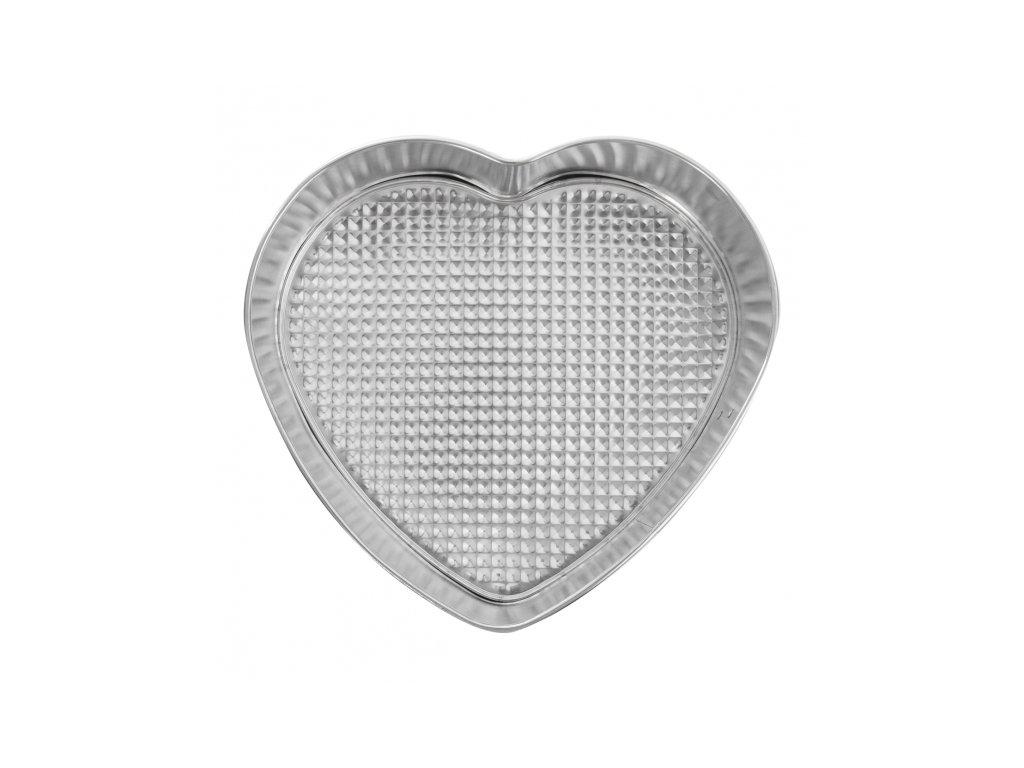 Pocínovaná forma na srdce 24 x 21,5 cm