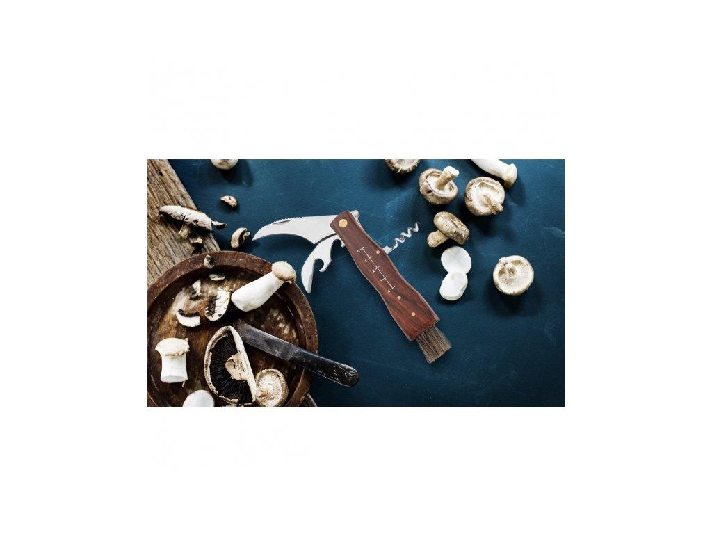 Nůž houbařský+štětec,otvíráky