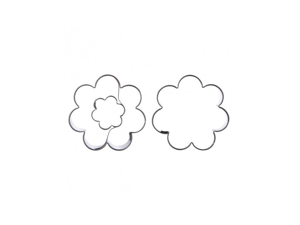 Nerezové vykrajovátko Květ sada 2 ks