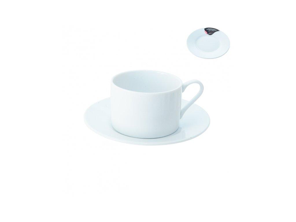 Porcelánový hrnek s podšálkem 0,22 l