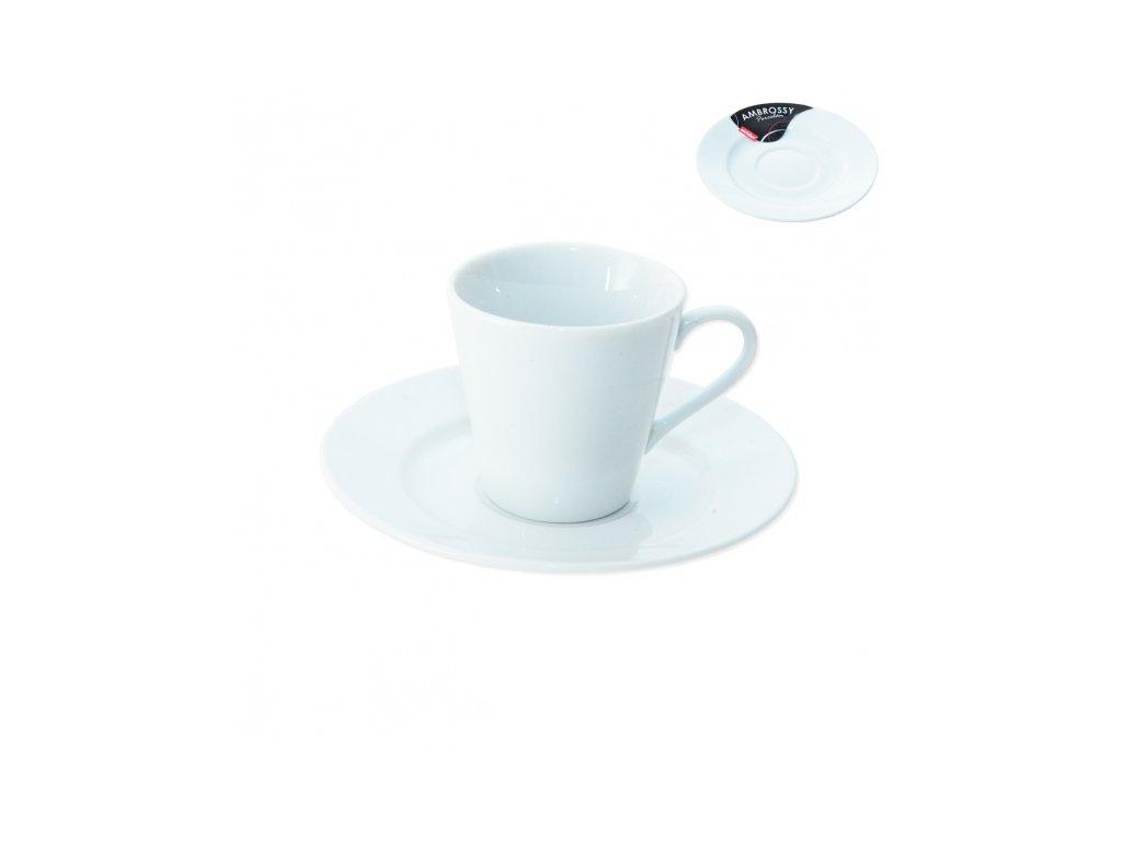 Porcelánový hrnek s podšálkem 0,09 l