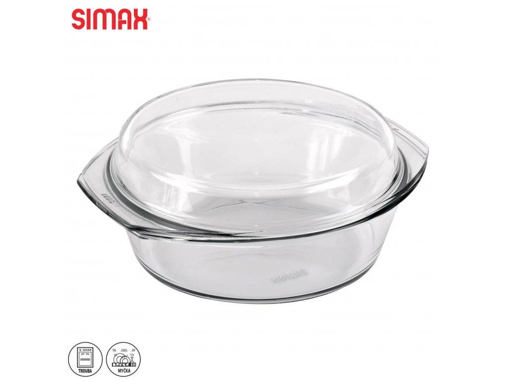 53373 1 skleneny kulaty pekac s vikem simxa 3 5 l