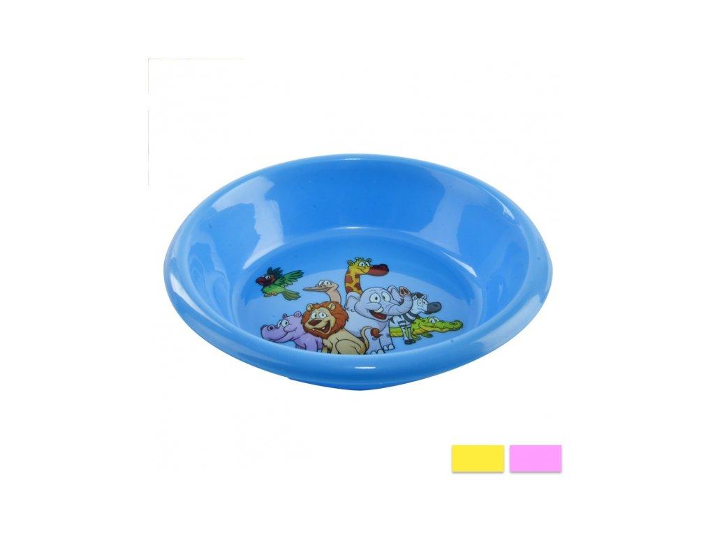 Plastová dětská miska, průměr 15 cm