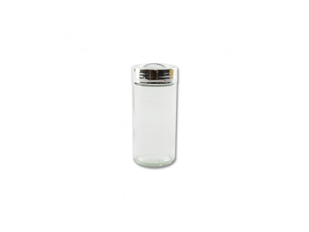 Kořenka sklo/chrom víčko 1 ks