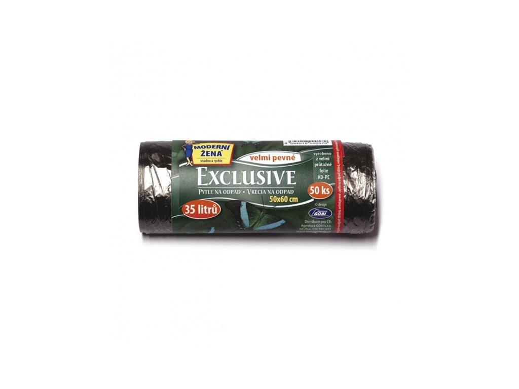 Sáček na odpad černý Exclusive 35 l/50 ks