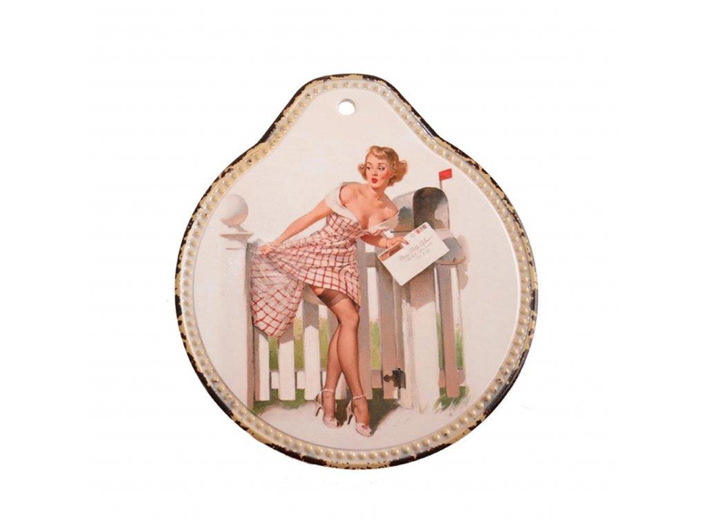 Podložka pod hrnec Woman 19 x 22 cm