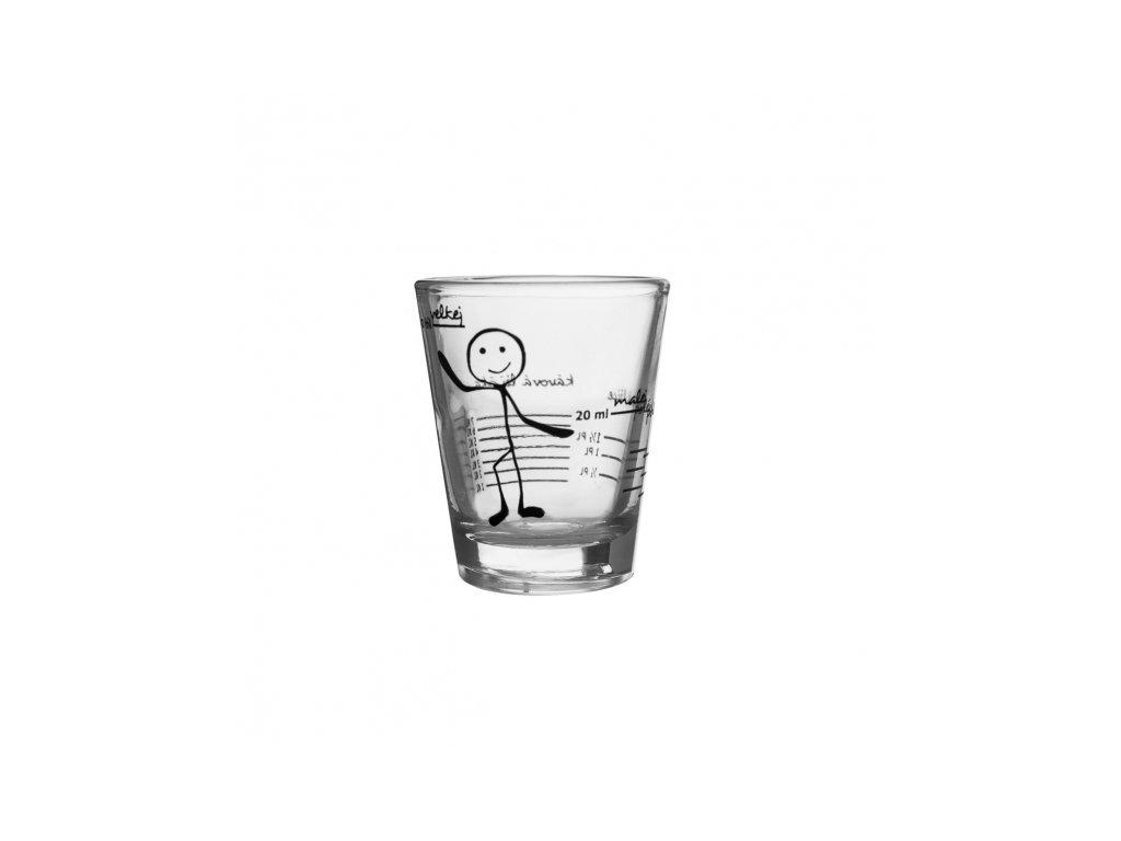 Skleněná odměrka na alkohol 0,05 l