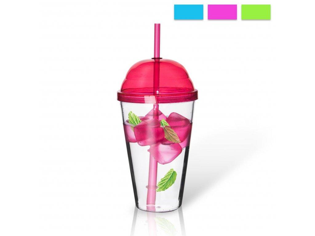 Plastový pohár Straw 0,55 l