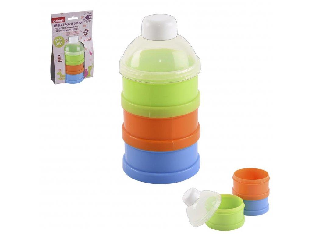59739 5 plastova doza na svacinky baby 0 075 l 3 ks