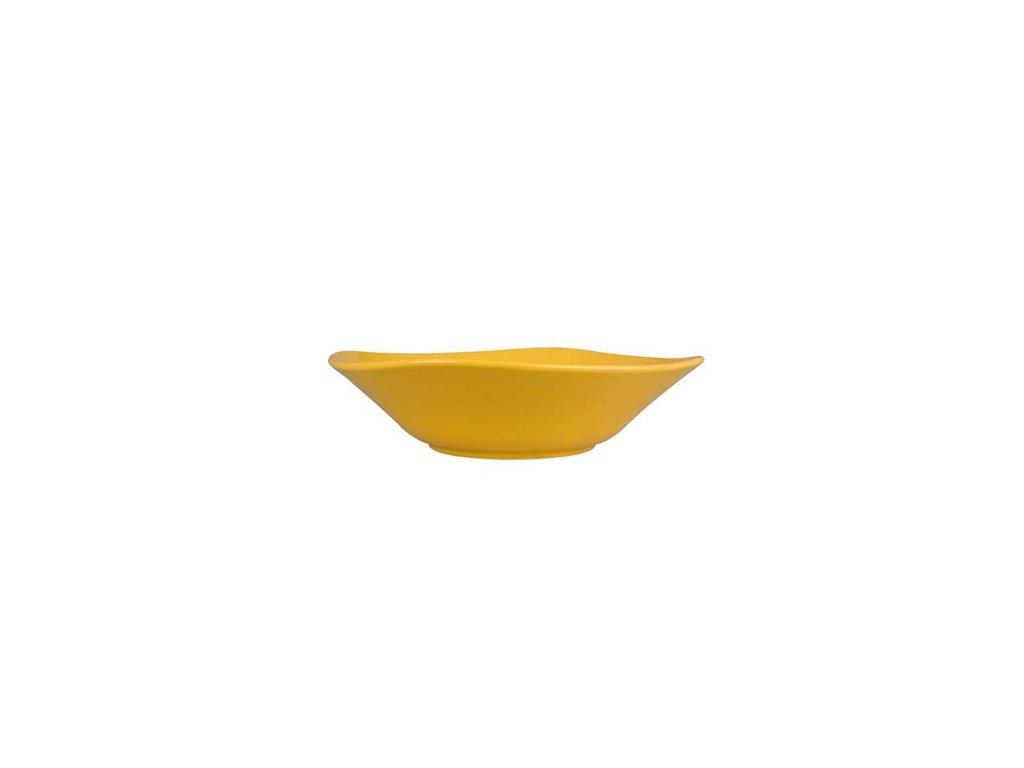 BANQUET Mísa keramická square 25,5 cm, žlutá