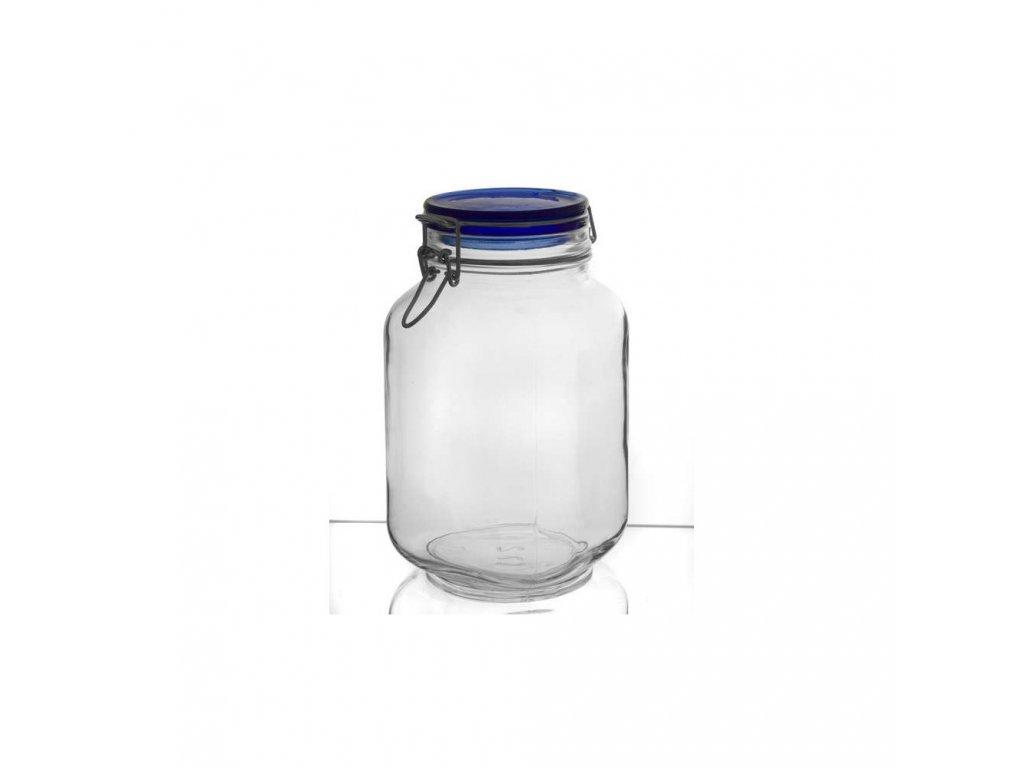 BORMIOLI Dóza skleněná FIDO Blue 2 l