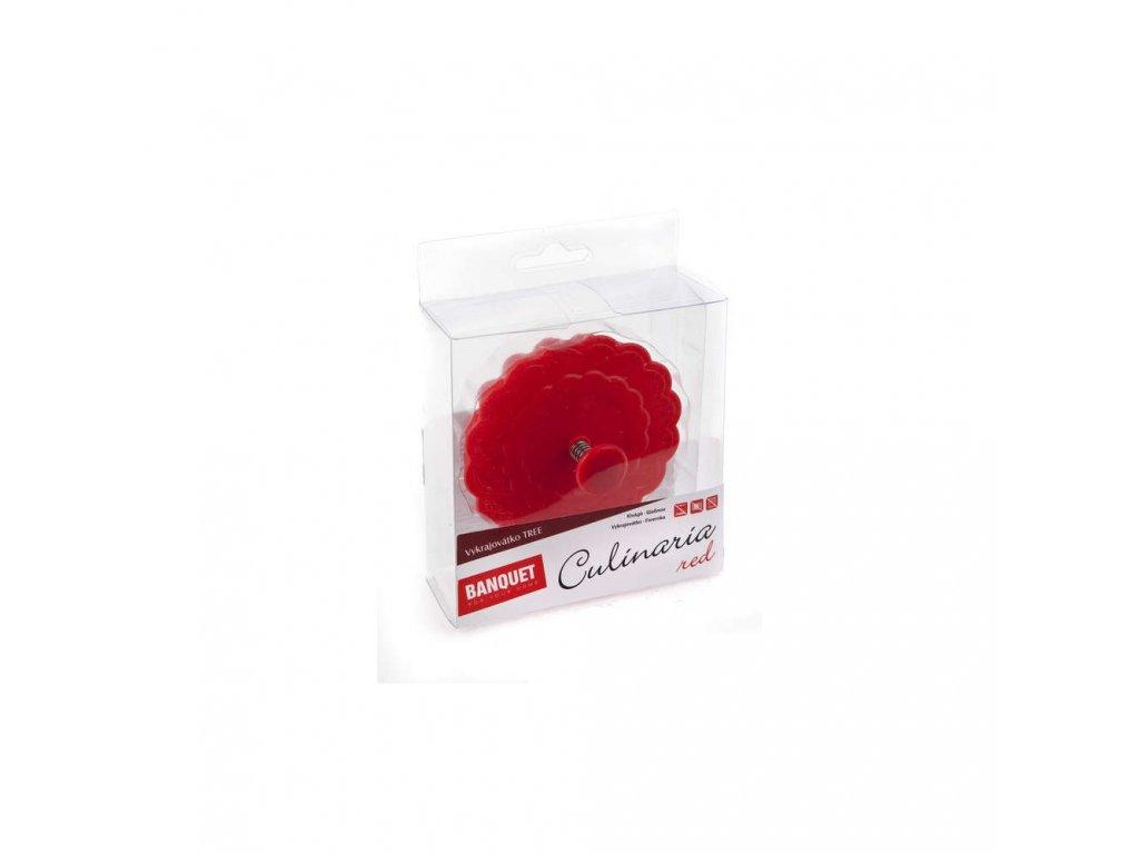 BANQUET Vykrajovátko silikonové CULINARIA Red 8,5 cm, Tree
