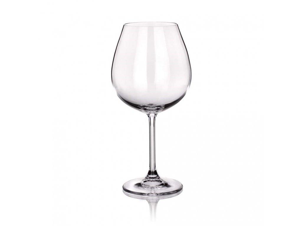BANQUET CRYSTAL Sada sklenic na víno DEGUSTATION Burgundy 650 ml, 6 ks, OK