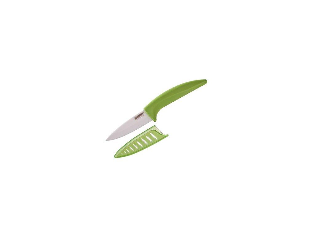 Keramický nůž s pouzdrem Banquet zelený, čepel 7 cm