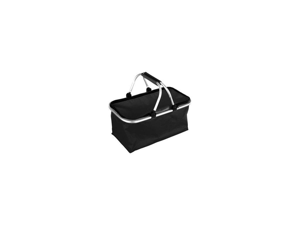 Košík kempingový, černý