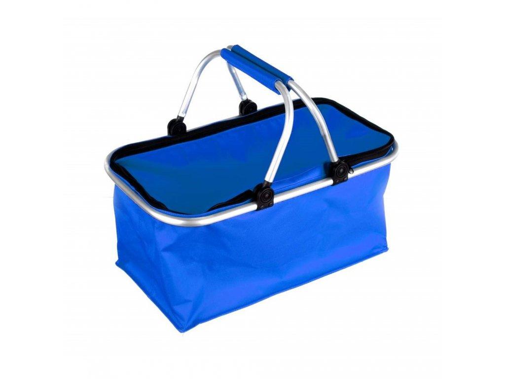 Košík kempingový, modrý
