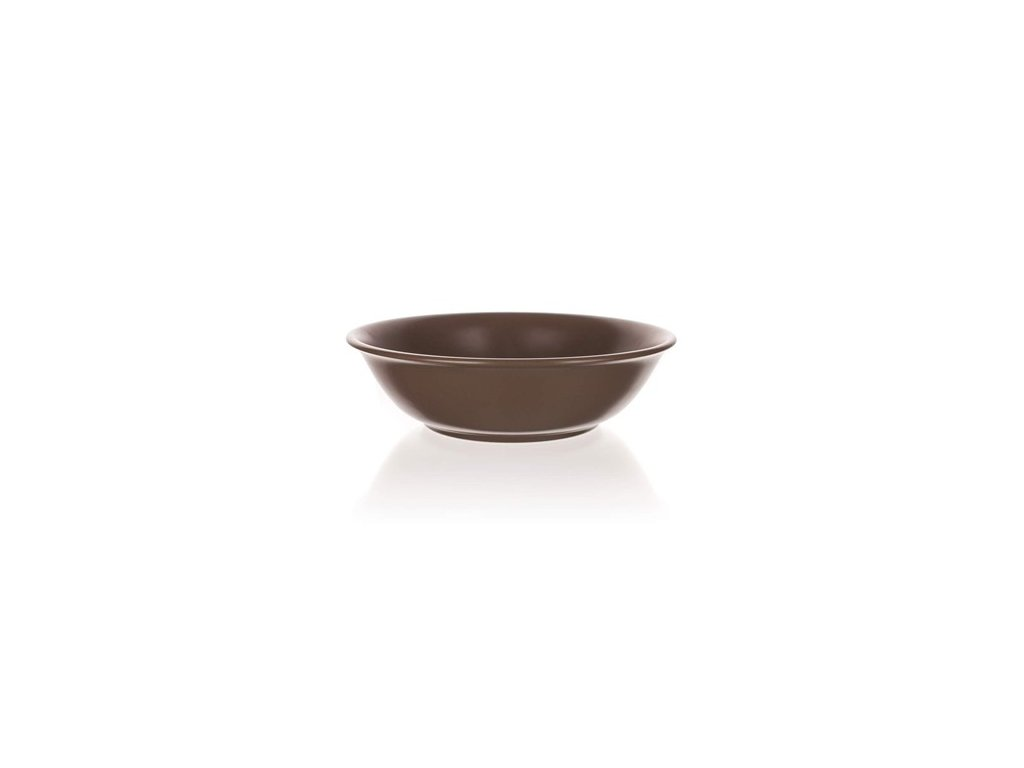 BANQUET Mísa keramická AMANDE 24,5 cm, hnědá mat