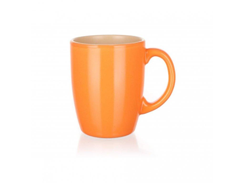 BANQUET Hrnek keramický AMANDE 310 ml, oranžovobéžový mat