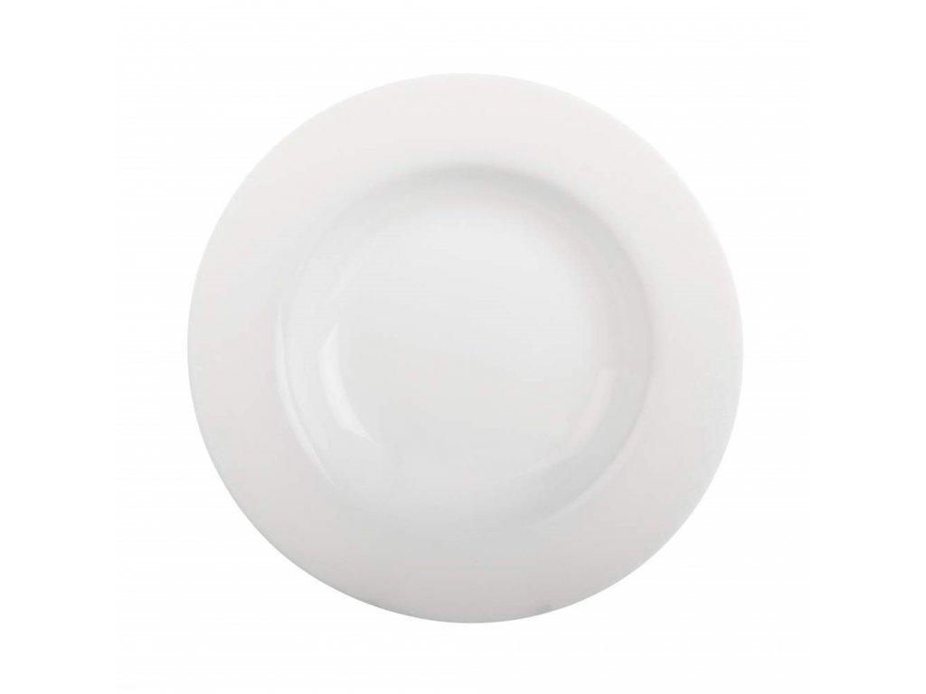 BORMIOLI Talíř skleněný hluboký TOLEDO 23 cm